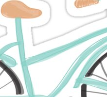 Baby Blue Bicycle Sticker