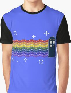 Rainbow TARDIS Graphic T-Shirt
