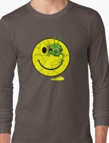 Happy Alien Face Long Sleeve T-Shirt