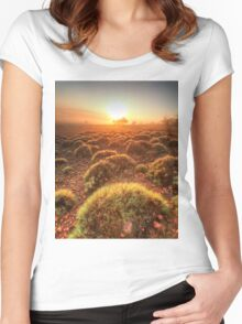 Gawler Ranges sunrise Women's Fitted Scoop T-Shirt