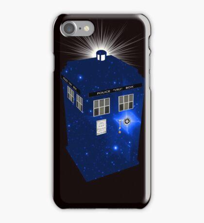 TARDIS Illustrated- Galactic Blue iPhone Case/Skin