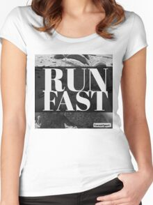 RUN FAST Women's Fitted Scoop T-Shirt