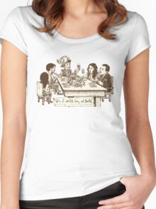 We're all cannibals here (NO BG) Women's Fitted Scoop T-Shirt