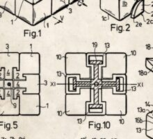 Rubik's Cube Toy Puzzle 1983 US Patent Art Sticker
