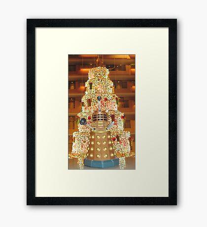 Dalek Christmas Framed Print