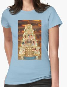 Dalek Christmas Womens Fitted T-Shirt