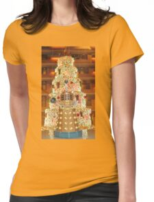 Dalek Christmas Womens Fitted T-Shirt