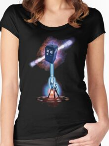 TARDIS TRON Women's Fitted Scoop T-Shirt