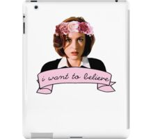 I want to believe t-shirt iPad Case/Skin