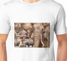 "A COLLAGE OF AFRICA'S ""BIG 5"" -  Unisex T-Shirt"