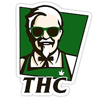 THC Cannabis Sticker Photographic Print
