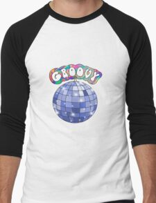70s disco ball groovy Men's Baseball ¾ T-Shirt
