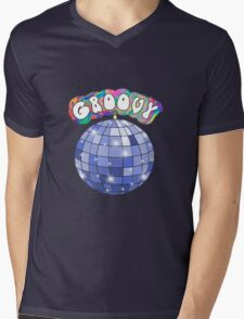 70s disco ball groovy Mens V-Neck T-Shirt