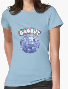 70s disco ball groovy Womens Fitted T-Shirt