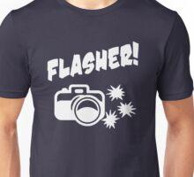 Flasher Funny Photograph Unisex T-Shirt