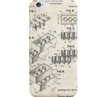 Lego Toy Blocks US Patent Art iPhone Case/Skin