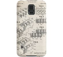 Lego Toy Blocks US Patent Art Samsung Galaxy Case/Skin