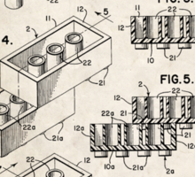 Lego Toy Blocks US Patent Art Sticker