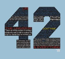 Hitchhiker's Guide 42 Quotes Kids Tee