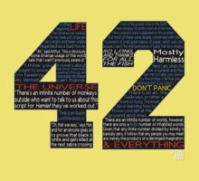 Hitchhiker's Guide 42 Quotes Baby Tee