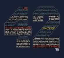 Hitchhiker's Guide 42 Quotes One Piece - Long Sleeve