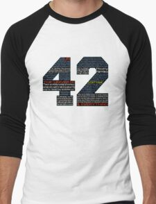 Hitchhiker's Guide 42 Quotes Men's Baseball ¾ T-Shirt