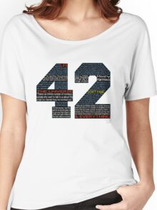 Hitchhiker's Guide 42 Quotes Women's Relaxed Fit T-Shirt