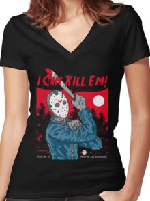 I Can Kill Em! Women's Fitted V-Neck T-Shirt