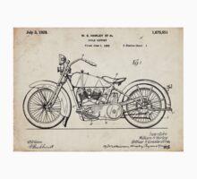 Harley Davidson Motorcycle US Patent Art 1928 T-Shirt