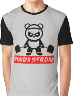 funny gym Panda Strong Graphic T-Shirt