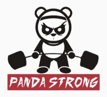 funny gym Panda Strong One Piece - Long Sleeve
