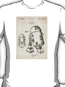 Star Wars R2D2 Droid US Patent Art T-Shirt