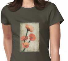Dewy Muted Zinnias Womens Fitted T-Shirt