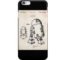 Star Wars R2D2 Droid US Patent Art iPhone Case/Skin