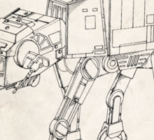 Star Wars AT-AT Imperial Walker US Patent Art Sticker