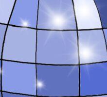 sparkly blue disco ball Sticker