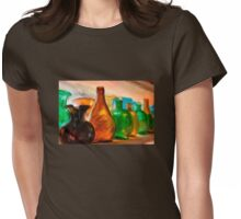 Colored Glass Bottles In The Window Womens Fitted T-Shirt