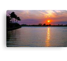 Inlet Sunsetting Canvas Print