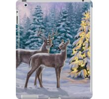 Whitetail Deer and Christmas Tree Winter iPad Case/Skin