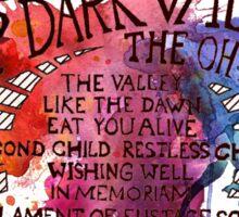 Through the Deep Dark Valley Oh Hello's Sticker