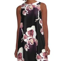 Orchids... Naturally - Floral Geometry Study  A-Line Dress