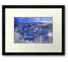 Salzburg Night Lights Print Framed Print