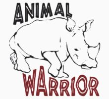 rhino warrior Kids Tee
