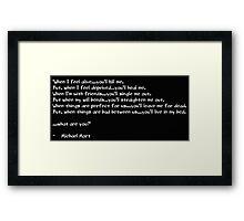 Riddle of A Poet Framed Print