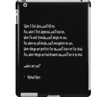 Riddle of A Poet iPad Case/Skin