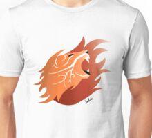 Fire Lion (White Back) Unisex T-Shirt