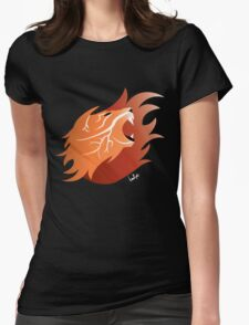 Fire Lion (Black Back) Womens Fitted T-Shirt