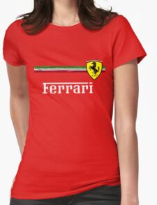 FERRARI Womens Fitted T-Shirt