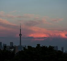 Toronto Sunset July 2014 by Keith Vander Wees