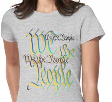 Blue-Gold We The People Womens Fitted T-Shirt